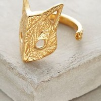 Culoyon Folded Fox Ring in Gold Size: