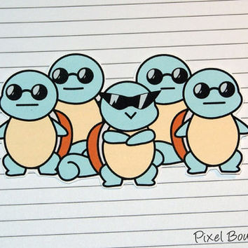 Squirtle Squad Sticker and Magnet