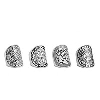 Sacred Geometry Ring Set
