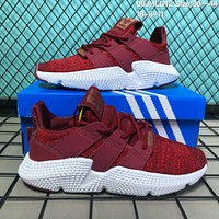 DCCK2 A130 Adidas Originals Prophere Climacool Knit Breathable Running Shoes Red