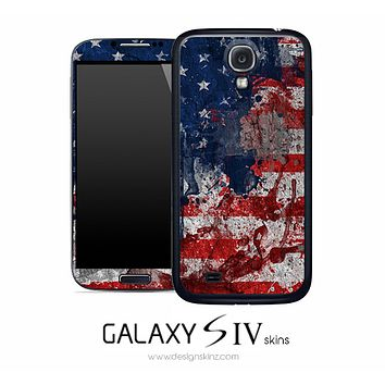 Abstract USA Flag Skin for the Galaxy S4