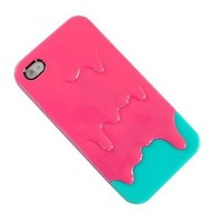 Pink 3d Melt Ice cream Skin Hard Case Cover for Apple Iphone 4 and 4s Protect Cell:Amazon:Cell Phones & Accessories