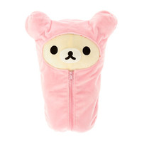Cream Rilakkuma in Pink Sleeping Bag Plush