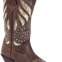 Crush By Durango Bling Western Boot With Embroidery, Sequins And Studs