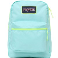 JanSport Overexposed Aqua School Backpack - Womens Backpack - Blue - One