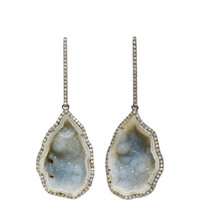 Large Blue-Green Geode Drop Earrings | Moda Operandi
