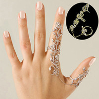Fashion Women Multiple Rose Crystal Stack Knuckle Band Finger Rings Set Fashion Jewelry 9DBV