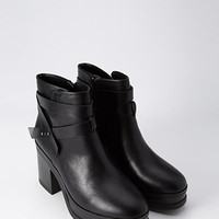 Platform Crisscross Booties