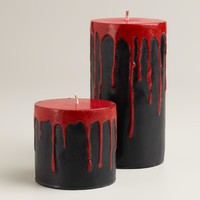 Bleeding Pillar Candles - World Market