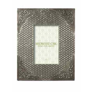 Silver Stamped Antique 4 x 6 Frame