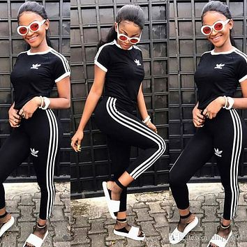 2019 Fashion Spring Designer Brand Tracksuit Women Sweatshirts Trousers Sports Suits Casual Ladies Clothing Long Sleeve T-shirt Pants Sets