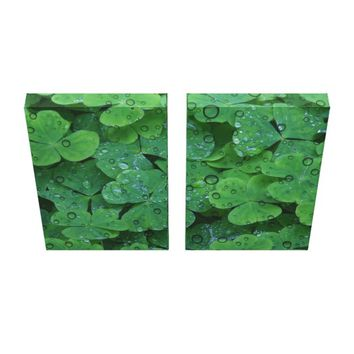 Green Irish Clover Wall Canvas