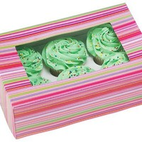 Wilton set of 2 Cupcake Boxes, Holds 6 Standard Cupcakes