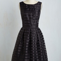 Long Sleeveless Fit & Flare Dinner and Romancing Dress in Black
