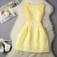 LM Boutique New Sexy Canary Yellow Dress Large 2 Day Free Shipping
