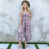 Tropical Paradise Jumpsuit in Mauve
