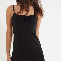 UO Ester Linen Tie-Front Mini Dress   Urban Outfitters