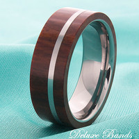 Wood Inlay Tungsten Wedding Ring Tungsten Wood Band Mens Fashion Wood Ring Mens Wood Inlay Ring Modern Wood Inlay Laser Ingraved Ring Band
