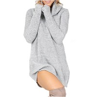 Warm Turtleneck Sweater Dresses