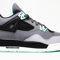 Air Jordan 4 Retro Green Glow GS Basketball Shoes <>