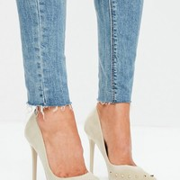 Missguided - Nude Pointed Pumps