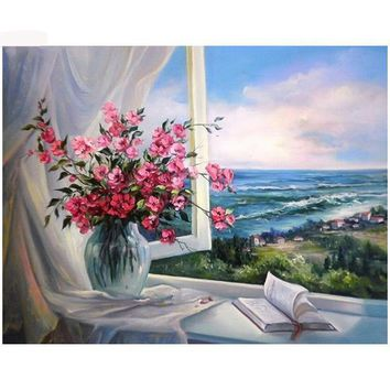 5D Diamond Painting Reading by the Open Window Kit