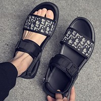 Dior Black Shoes Sports Slippers Black Shoes Black Soles