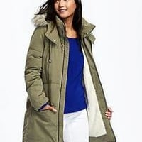 Frost Free Hooded Down-Fill Parka for Women | Old Navy