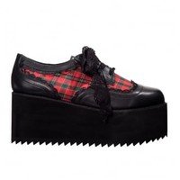 Banned Apparel Jester Platform Brogues | Attitude Clothing