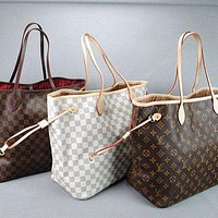 Louis Vuitton LV Trending Ladies Shopping Bag Leather Tote Handbag Shoulder two piece Bag