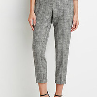 Houndstooth Plaid Trousers