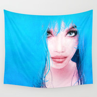 MonGhost XI - TheBlueDream Wall Tapestry by lilavert