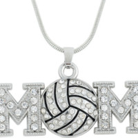 Volleyball Mom Crystal Necklace