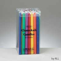 Deluxe Chanukah Candles, Multicolor, 45/box