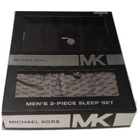 Michael Kors Men's 2 Piece Black/Grey Sleep Set Large