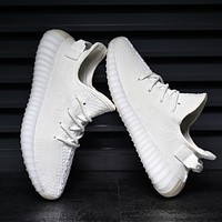 Adidas Yeezy 550 Boost 350 V2 Stylish Unisex Movement Running Shoe Sneakers Pure White I