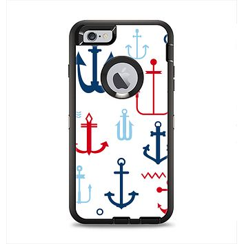 The Various Anchor Colored Icons Apple iPhone 6 Plus Otterbox Defender Case Skin Set