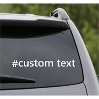 Custom Hashtag # Car Window Windshield Lettering Decal Sticker Decals Stickers