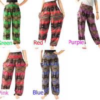Hippie clothes Peacock pants Unisex pants Elephant pants Harem pants Thai pants Gypsy pants  Palazzo pants Hippie pants Elephant clothes