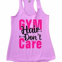 GYM Hair Don't Care Womens Workout Tank Top