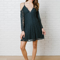 Alessia Lace Cold-Shoulder Dress-FINAL SALE