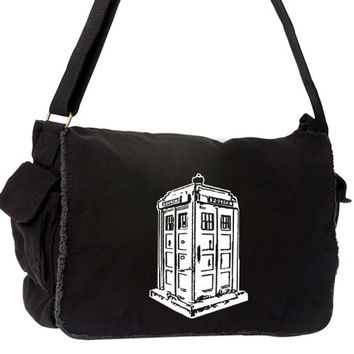 TARDIS Large Messenger Bag - Doctor Who White Police Box