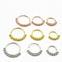 50pcs/lot Free Shipping 316L Surgical Steel Seamless Open Hoop Nose Tragus Cartilage Hoop Ring Earring Body Piercing NEW