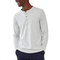 Puremeso Henley Long Sleeve Tee in Stone by The Normal Brand