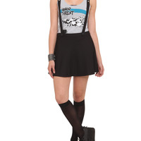 Royal Bones Black Suspenders Skirt | Hot Topic