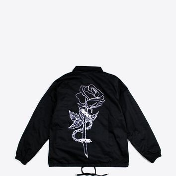 CHAINED ROSE CANVAS JACKET