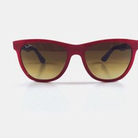 RayBan RB4184 6044/85 Red Grey Frame, Brown Gradient Lens Sunglasses