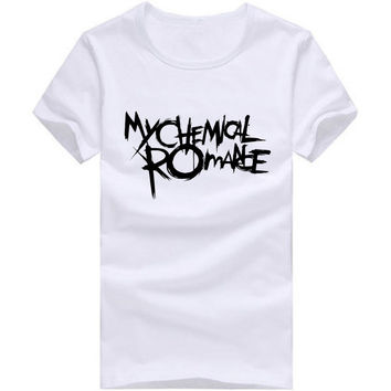 My Chemical Romance T Shirts Men O Neck Euro Size Cotton Man T-Shirt Causal Letter Mens tshirt Free Shipping Tops Fitness Tees msc