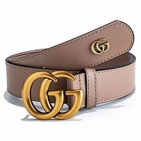 GUCCI New fashion GG letter buckle couple leisure belt