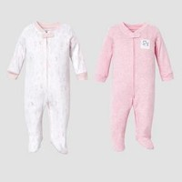 Lamaze Baby Girls' Organic 2pc Sleep N' Play Set - Pink